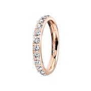 Ring rosegold mit Kristallen