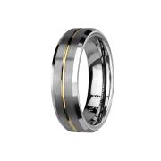 Ring silber gebürstet mit abgeschrägten Kanten...