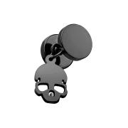 Fake Plug schwarz mit Anhänger Totenkopf