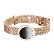 Armband rosegold schwarzes emaille mit römischen...