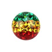 Kristall Kugel Rasta Epoxy Schutzschicht