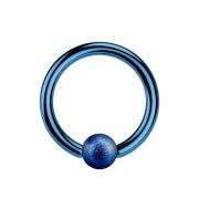 Micro Ball Closure Ring dunkelblau gesprenkelt