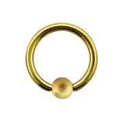 Ball Closure Ring vergoldet gesprenkelt