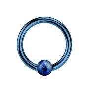 Ball Closure Ring dunkelblau gesprenkelt