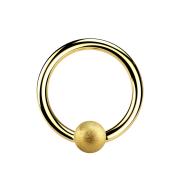 Micro Ball Closure Ring vergoldet gesprenkelt