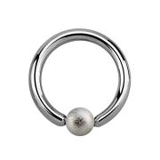 Ball Closure Ring silber gesprenkelt