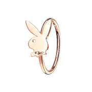 Micro Piercing Ring rosegold Playboy Bunny
