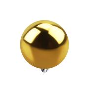 Dermal Anchor Kugel vergoldet