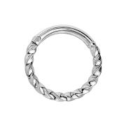 Micro Piercing Ring geflochten silber klappbar