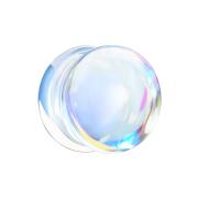 Flared Plug irisierend aus Glas