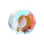 Flared Plug facettiert irisierend aus Glas