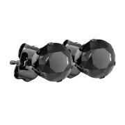 Ohrstecker schwarz mit rundem Kristall schwarz