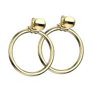 Ohrring vergoldet mit Kugel Anhänger Ring