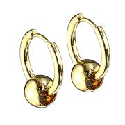 Ohrring vergoldet Anhänger Kugel