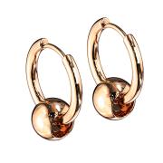 Ohrring rosegold Anhänger Kugel