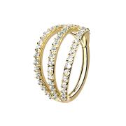 Micro Segmentring vergoldet klappbar drei Ringe mit...