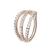Micro Segmentring rosegold klappbar drei Ringe mit...