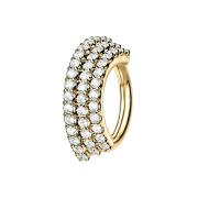 Micro Piercing Ring 14k vergoldet Platte mit drei...