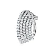 Micro Piercing Ring silber Platte mit fünf...
