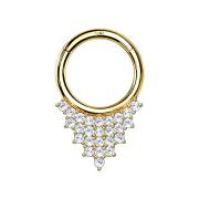 Micro Segmentring 14k gold klappbar Dreiecksplatten mit...