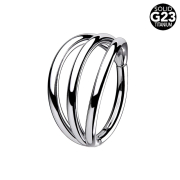 Micro Segmentring silber klappbar drei Ringe