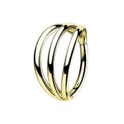 Micro Segmentring vergoldet klappbar drei Ringe