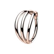 Micro Segmentring rosegold klappbar drei Ringe