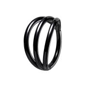 Micro Segmentring schwarz klappbar drei Ringe