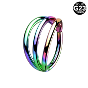 Micro Segmentring farbig klappbar drei Ringe