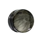 Flared Plug aus goldenem Obsidian Stein