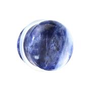 Flared Plug aus Sodalith Stein mit O-Ring