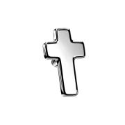 Dermal Anchor Kreuz silber