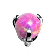 Dermal Anchor silber Opal pink gefasst