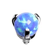 Dermal Anchor silber Opal blau gefasst