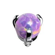 Dermal Anchor silber Opal violett gefasst
