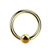 Ball Closure Ring vergoldet