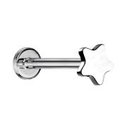 Micro Labret Innengewinde silber Stern