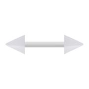 Barbell weiss mit zwei Cones