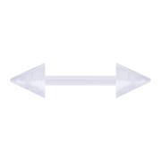 Barbell transparent mit zwei Cones