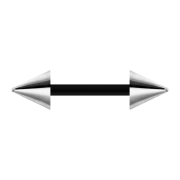 Barbell schwarz mit zwei Cones silber