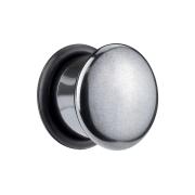 Flared Plug aus Hämatit Stein mit O-Ring