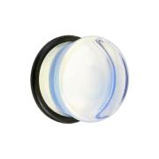 Flared Plug aus Opalite Stein mit O-Ring