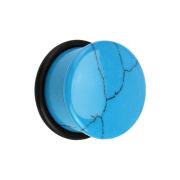 Flared Plug aus Türkis Stein mit O-Ring