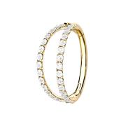 Micro Segmentring vergoldet klappbar zwei Ringe mit...