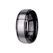 Ring schwarz mittig gebürstet