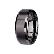 Ring schwarz mittig gebürstet schwarz