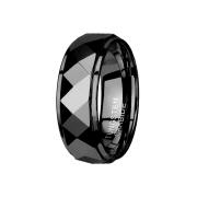 Ring schwarz facettiert