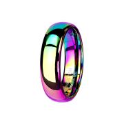 Ring farbig hochglanzpoliert