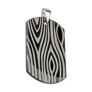 Anhänger schwarz Erkennungsmarke Zebra