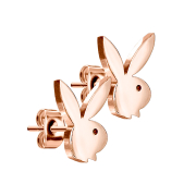 Ohrstecker rosegold mit Playboy Bunny